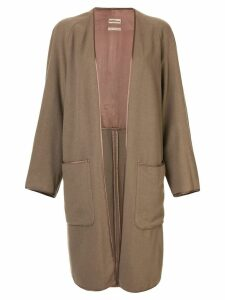 Hermès pre-owned cashmere long-sleeved coat - Brown