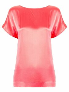 Fendi Pre-Owned shortsleeved slip blouse - Pink