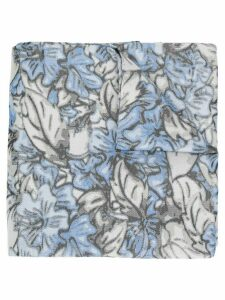 Issey Miyake Pre-Owned 1990's floral scarf - Grey