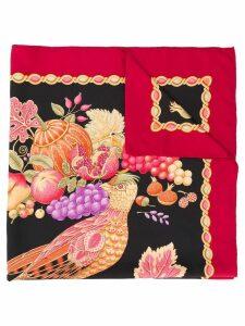 Salvatore Ferragamo Pre-Owned 1980's fruis print scarf - Black