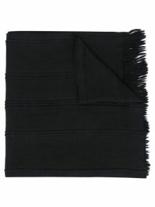 Giorgio Armani Pre-Owned 1990's fringed scarf - Black