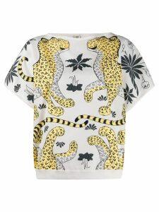 Hermès Pre-Owned printed boxy T-shirt - NEUTRALS