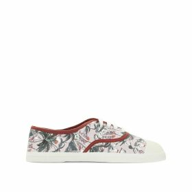 Surf Prints Lace-Up Trainers