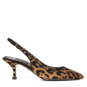 Dolce & Gabbana Leopard-print Pony Hair Slingbacks