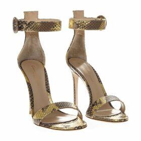 Gianvito Rossi Portofino Python Leather Sandals