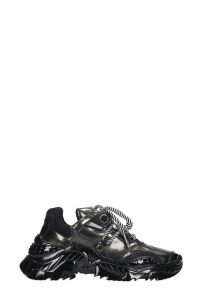 N.21 Billy Sneakers In Black Patent Leather