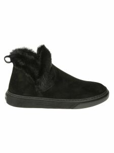 Hogan Fur Trimmed Sneakers