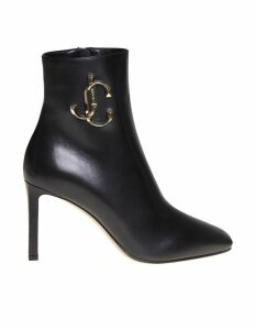 Jimmy Choo Low-leather Ankle Boot 85 In Black Calf Leather