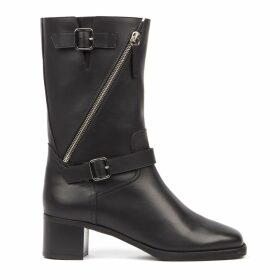 Giuseppe Zanotti Esther Black Leather Ankle Boots