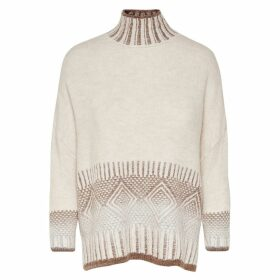 High Neck Fine Gauge Knit Jumper