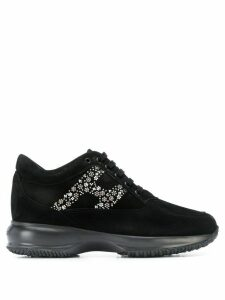 Hogan crystal logo low-top sneakers - Black
