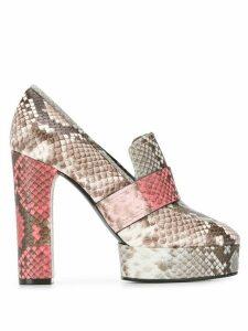 Casadei Zambe snakeskin heeled pumps - Grey