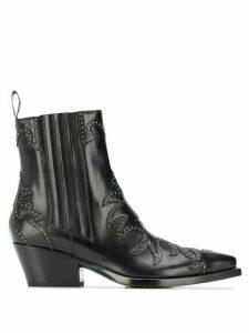 Sartore stud-embellished ankle boot - Black