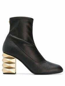 Giuseppe Zanotti gold-tone heel boots - Black