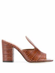 Paris Texas crocodile printed sandals - Brown