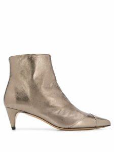 Isabel Marant Durfee low-heel boots - Metallic