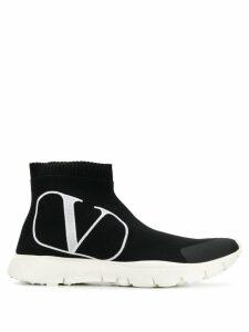 Valentino Valentino Garavani VLOGO sock sneakers - Black