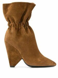 Saint Laurent Niki boots - Brown