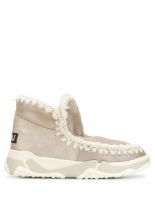 Mou knitted detail boots - Neutrals