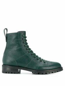 Jimmy Choo Cruz flat combat boots - Green