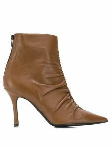 Marc Ellis ruffled ankle boots - Brown