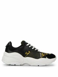 Versace Jeans Couture baroque print sneakers - Black