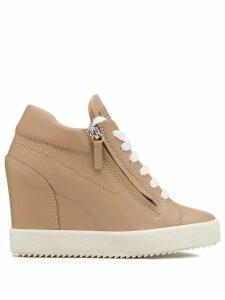 Giuseppe Zanotti Addy wedge sneakers - NEUTRALS
