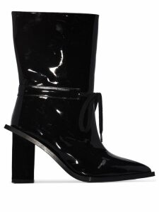 Marques'Almeida patent 80 ankle boots - Black