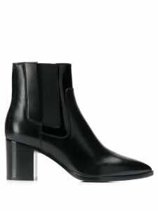 Santoni pointed ankle boots - Black