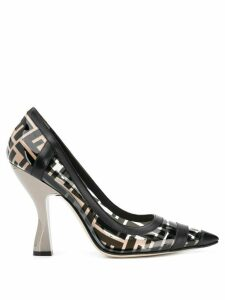 Fendi FF Monogram Pumps - Neutrals