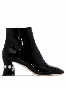 Miu Miu embellished 65mm ankle boots - Black