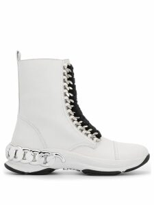 Casadei lace up ankle boots - White