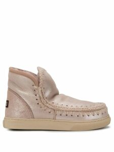 Mou knitted detail boots - PINK