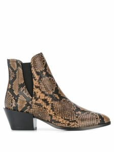 Tod's snakeskin printed ankle boots - Neutrals