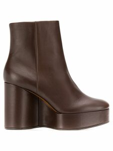 Clergerie Belen wedge ankle boots - Brown