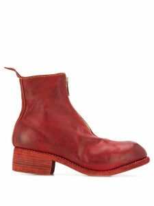 Guidi chunky heel boots - Red