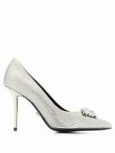 Versace crystal-embellished pumps - SILVER