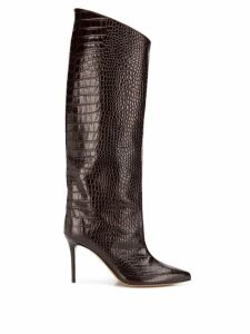 Alexandre Vauthier Croco High Booty boots - Brown