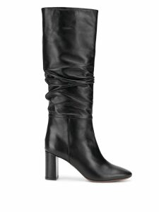 L'Autre Chose ruched knee-length boots - Black