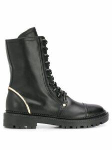 Casadei lace up combat boots - Black