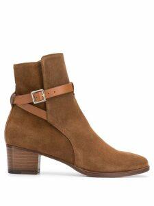 L'Autre Chose wrap strap boots - Brown