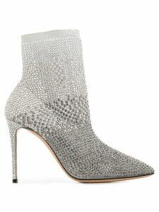 Casadei crystal embellished ankle boots - Grey