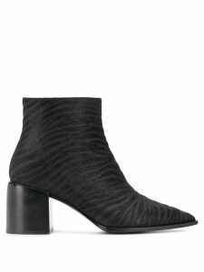 Casadei animal print ankle boots - Black