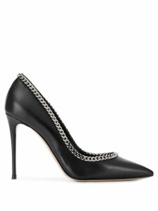 Casadei chain-embellished pumps - Black