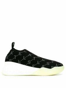 Stella McCartney Loop Monogram rhinestone sneakers - Black