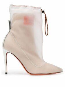 Heron Preston layered ankle boots - NEUTRALS