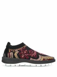 Etro patterned running sneakers - Black