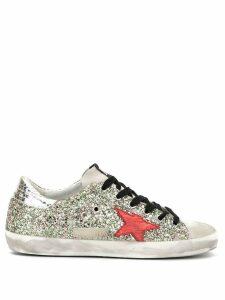 Golden Goose glitter Superstar low-top sneakers - Metallic