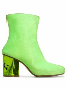 Maison Margiela crushed heel ankle boots - Green