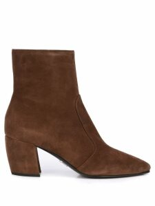 Prada low-heel ankle boots - Brown